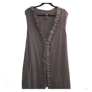 Style & Co. long gray sleeveless sweater